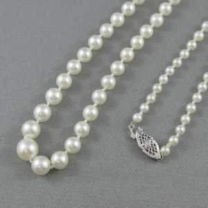 Collier Perles Akoya, 14K blanc, B3078-2