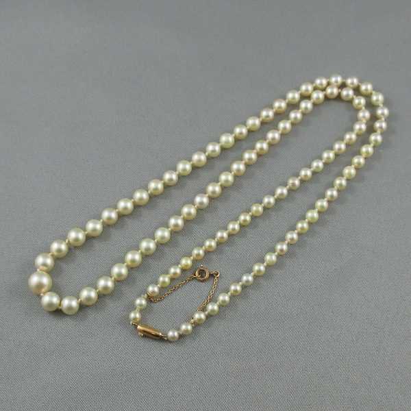 Collier Perles Akoya, 18K jaune, B3559-2