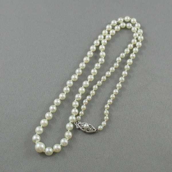 Collier Perles Akoya, 14K blanc, B4724-2
