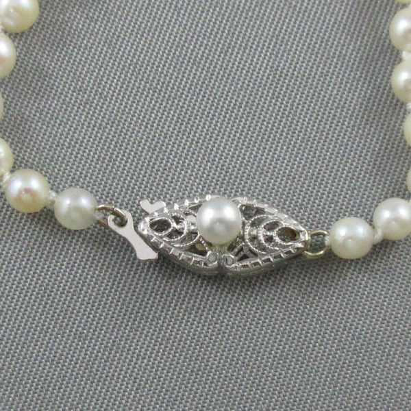 Collier Perles Akoya, 14K blanc, B4724-3