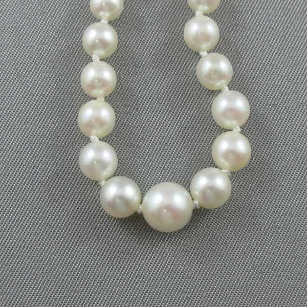 Collier Perles Akoya, 14K blanc, B4724-4