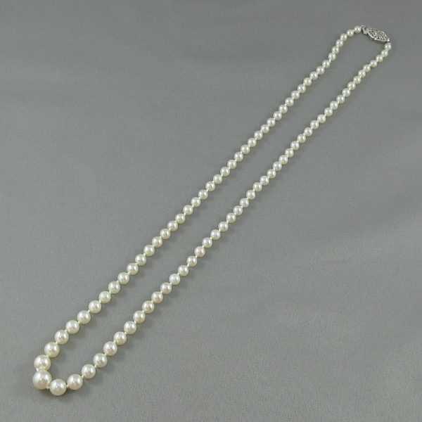 Collier Perles Akoya, 14K blanc, B5157-1