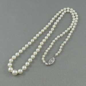 Collier Perles Akoya, 14K blanc, B5157-2