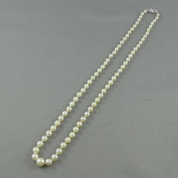 Collier Perles Akoya, 14K blanc, B5296-1