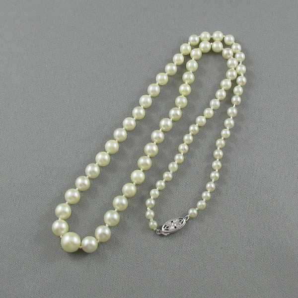 Collier Perles Akoya, 14K blanc, B5296-2