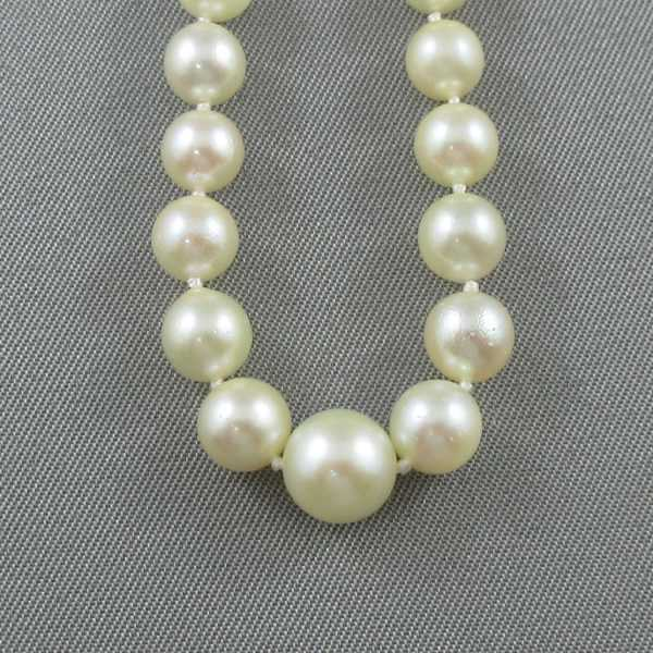 Collier Perles Akoya, 14K blanc, B5296-3