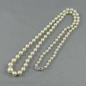 Collier Perles Akoya, 10K blanc, B6012-2