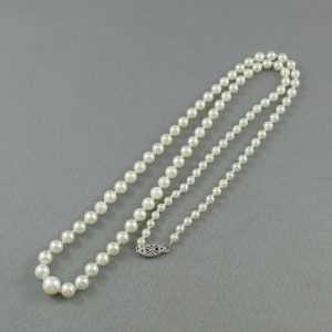 Collier Perles Akoya, 10K blanc, B6360-2