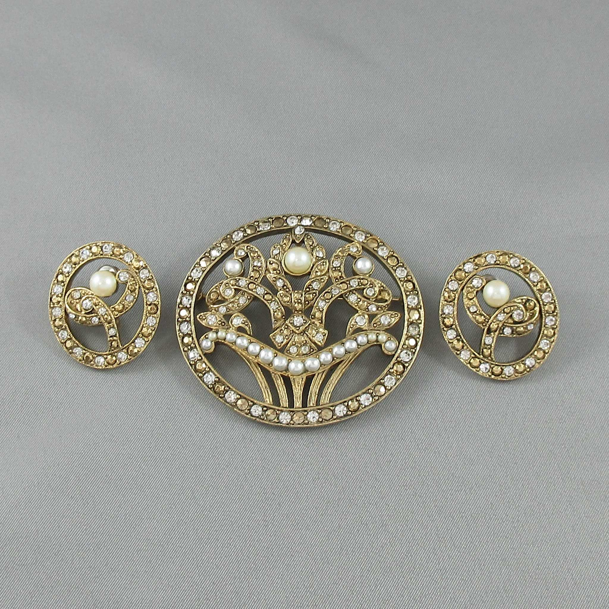 Richelieu Jewelry Set Brooch And Earrings La Boite A Bijoux