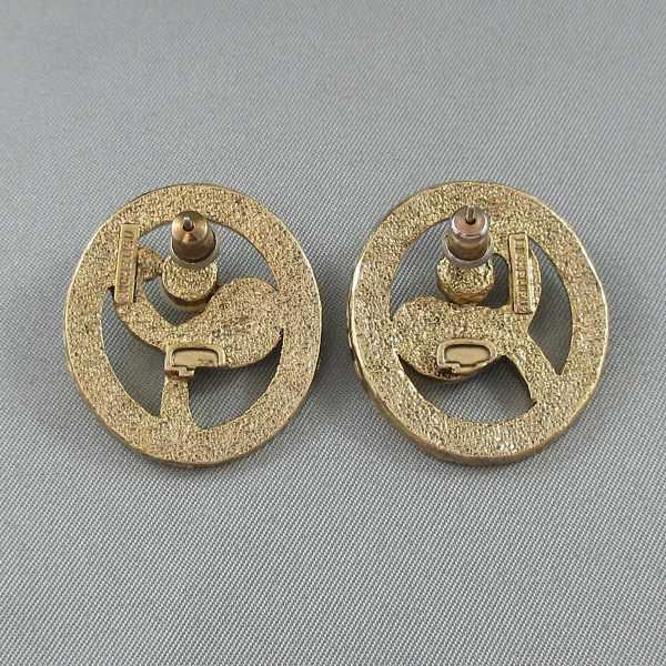 RICHELIEU, ensemble (broche et boucles d'oreilles), B6463-5