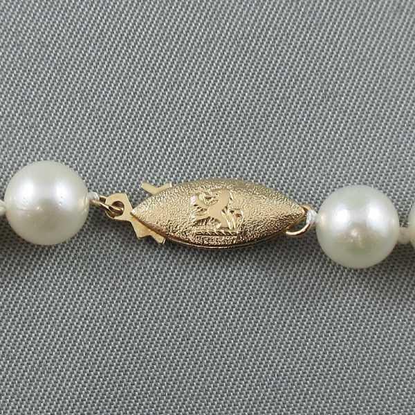 Collier Perles Akoya, 14K jaune, B6483-4
