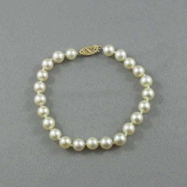 Bracelet Perles Akoya, 14K jaune, B6486-1
