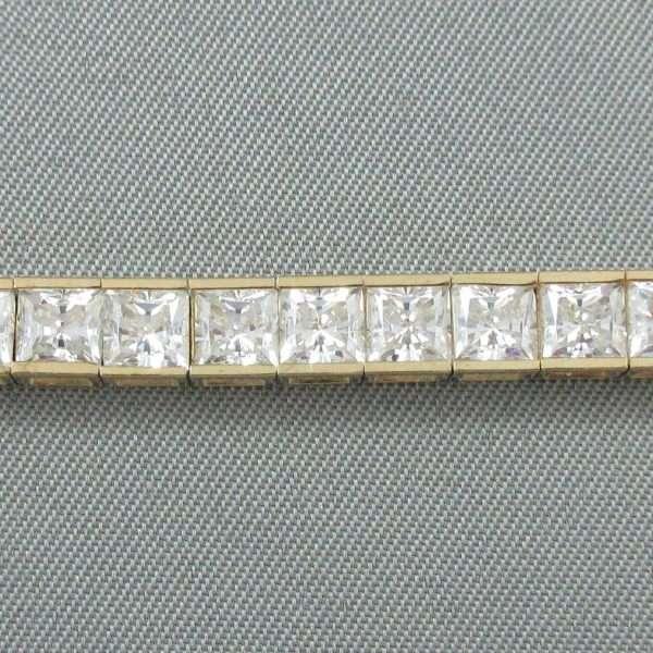 Bracelet, 42 Zircons cubiques, 14K jaune, B6543-3