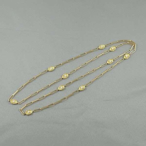 Sautoir, 10 diamants, 18K jaune, B6547-1