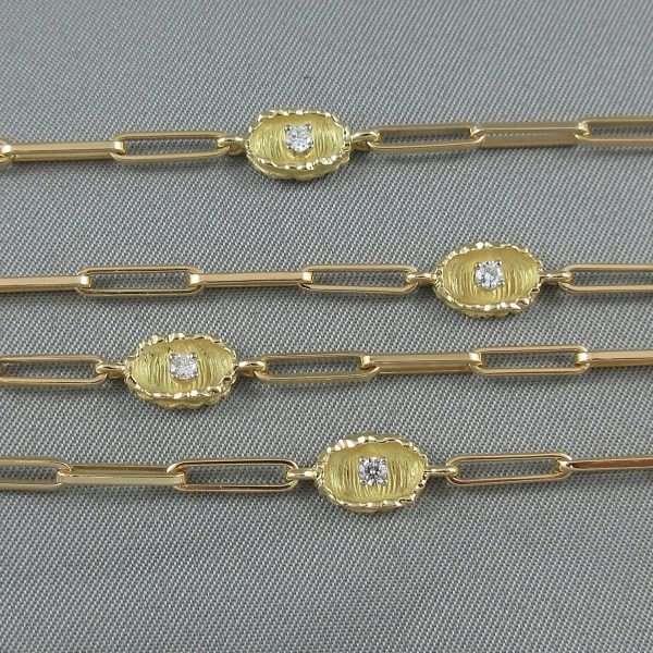 Sautoir, 10 diamants, 18K jaune, B6547-2