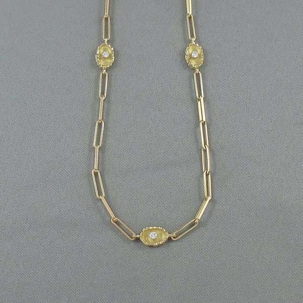 Sautoir, 10 diamants, 18K jaune, B6547-3