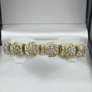 Bracelet diamants, 18K, C3127-1