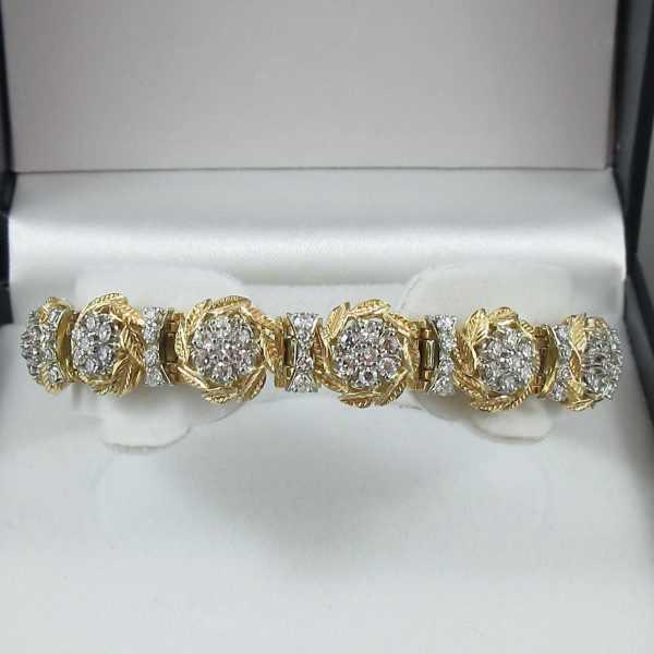 Bracelet diamants, 18K, C3127-1