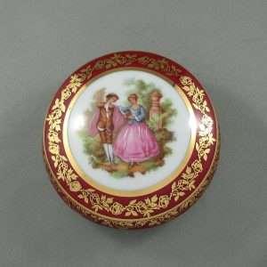 Boîte à bijoux en porcelaine, Limoges, B6564-1