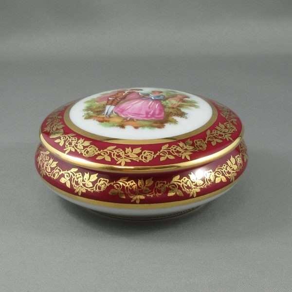 Boîte à bijoux en porcelaine, Limoges, B6564-2