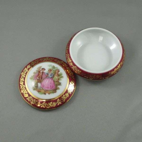 Boîte à bijoux en porcelaine, Limoges, B6564-3