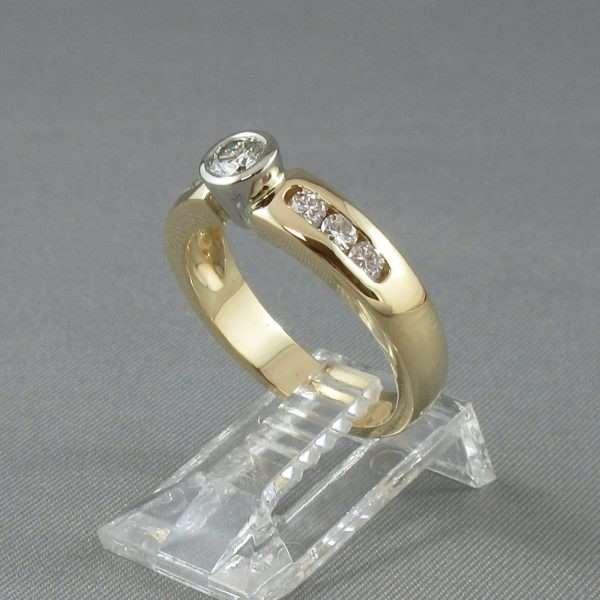 Bague 7 diamants, 18K, B6571-2
