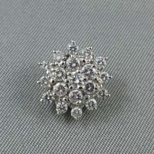 Pendentif diamants, 14K blanc, B6577-1