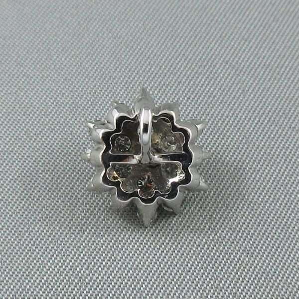 Pendentif diamants, 14K blanc, B6577-2
