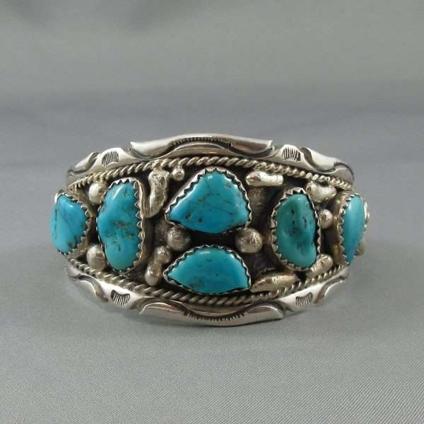 Bracelet 6 turquoises, B6598-1