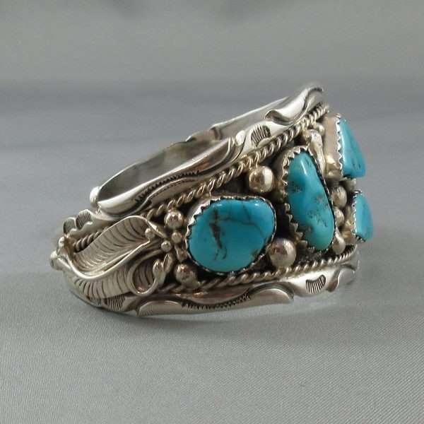 Bracelet 6 turquoises, B6598-2