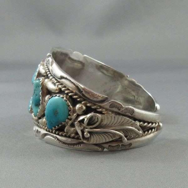 Bracelet 6 turquoises, B6598-3