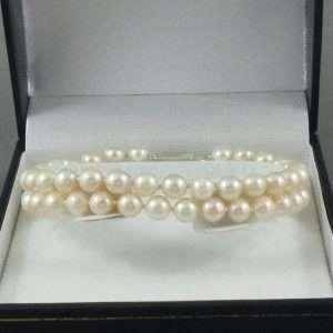 Bracelet 2 rangs, perles Akoya, B6626-1