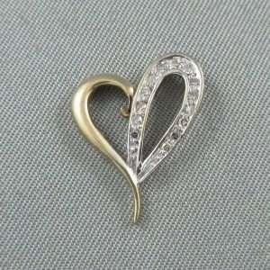 Pendentif 14 diamants, 10K, B6558-1