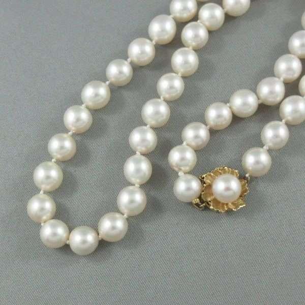 Collier perles Akoya, 14K jaune, B6656-1