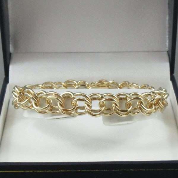 Bracelet maille doublé, 14K jaune, B6659-1