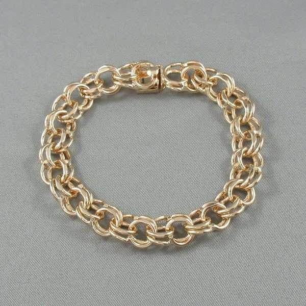 Bracelet maille doublé, 14K jaune, B6659-2
