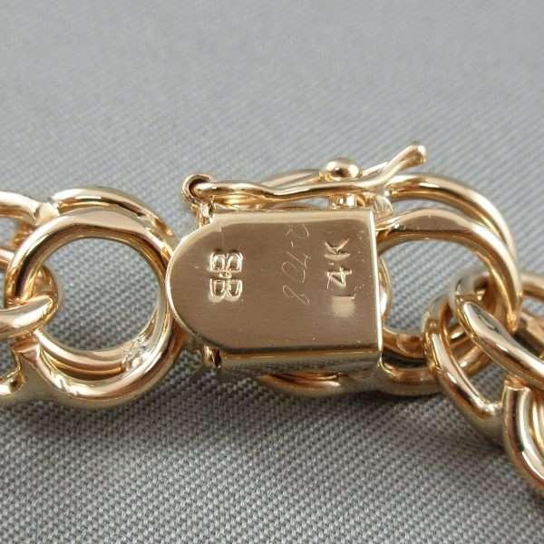 Bracelet maille doublé, 14K jaune, B6659-3