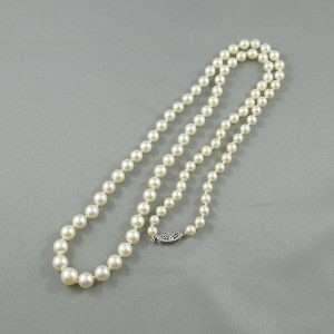 Collier Perles Akoya, 14K blanc, B6664-1