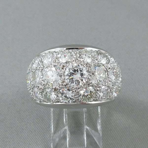 Bague 29 diamants, 14K blanc, C3132-1