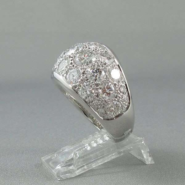 Bague 29 diamants, 14K blanc, C3132-2