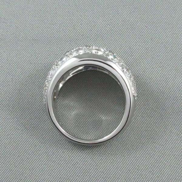 Bague 29 diamants, 14K blanc, C3132-5