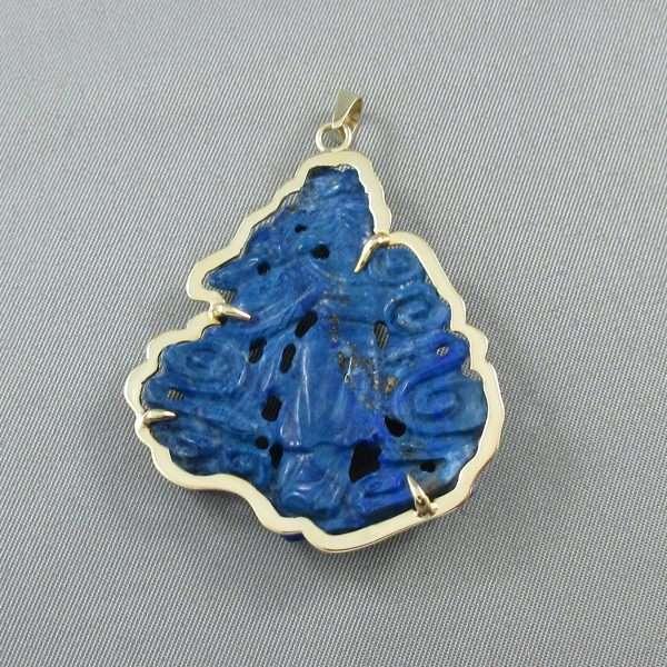 Pendentif Lapis-Lazuli, 14K jaune, C3134-2