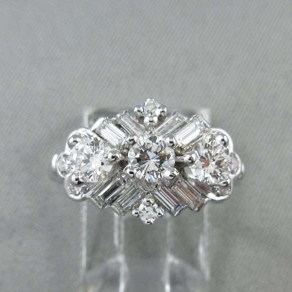 Bague 19 diamants, 18K blanc, C3135-1