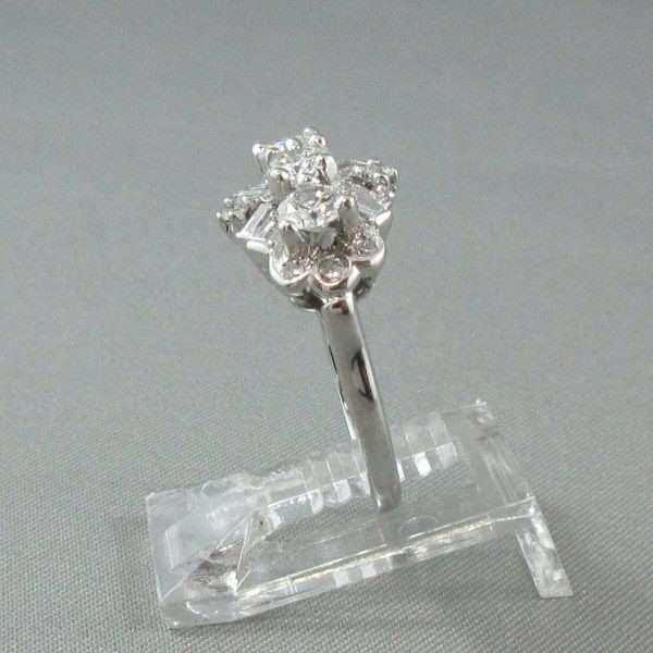 Bague 19 diamants, 18K blanc, C3135-2