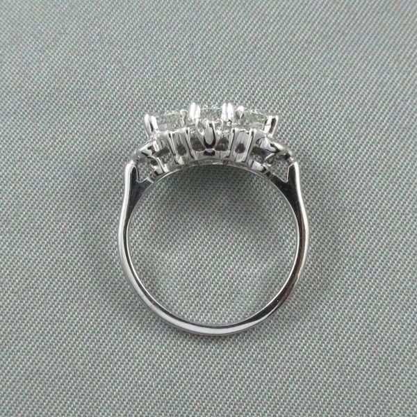 Bague 19 diamants, 18K blanc, C3135-3
