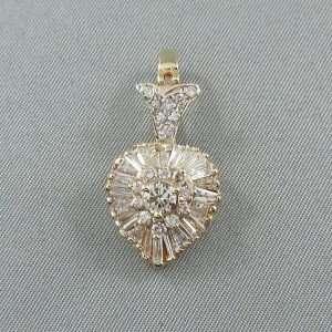 Pendentif 40 diamants, 14K jaune, C3136-1