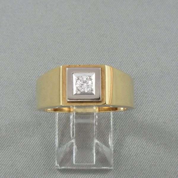Bague un diamant, 18K, B3189-1
