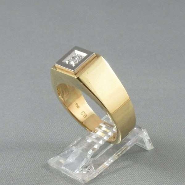 Bague un diamant, 18K, B3189-2