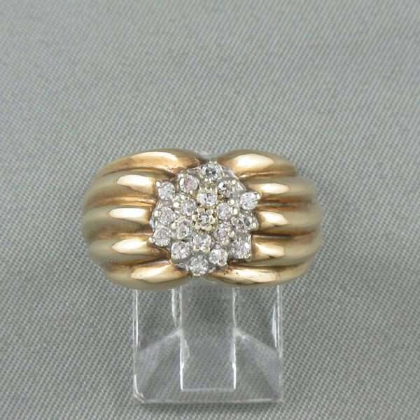 Bague 19 diamants, 14K, B3280-1