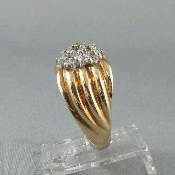 Bague 19 diamants, 14K, B3280-2